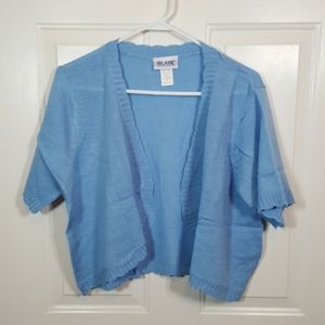 Blair Scallop Edge Shrug - Light Blue Sz XLG